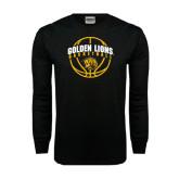 Black Long Sleeve TShirt-Basketball  Arched w/ Ball