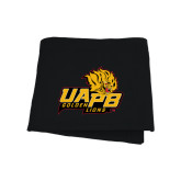 Black Sweatshirt Blanket-UAPB Lion Head Stacked