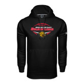 Under Armour Black Performance Sweats Team Hoodie-Golden Lions Football in Ball