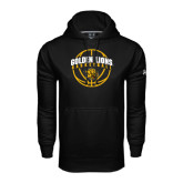 Under Armour Black Performance Sweats Team Hoodie-Basketball  Arched w/ Ball