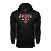 Under Armour Black Performance Sweats Team Hoodie-Soccer Just Kick It
