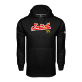 Under Armour Black Performance Sweats Team Hoodie-Softball Script