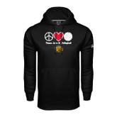 Under Armour Black Performance Sweats Team Hoodie-Peace Love & Volleyball