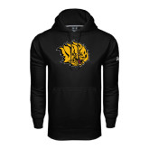 Under Armour Black Performance Sweats Team Hoodie-Golden Lion Head