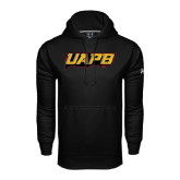 Under Armour Black Performance Sweats Team Hoodie-UAPB Word Mark