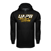 Under Armour Black Performance Sweats Team Hoodie-UAPB Golden Lions Stacked