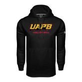 Under Armour Black Performance Sweats Team Hoodie-Volleyball