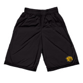 Russell Performance Black 10 Inch Short w/Pockets-Golden Lion Head