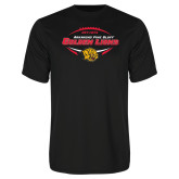 Syntrel Performance Black Tee-Golden Lions Football in Ball
