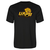 Syntrel Performance Black Tee-UAPB Lion Head Stacked
