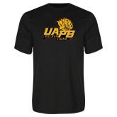 Performance Black Tee-UAPB Lion Head Stacked