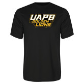Syntrel Performance Black Tee-UAPB Golden Lions Stacked