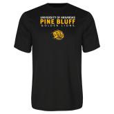 Performance Black Tee-University of Arkansas Pine Bluff Golden Lions