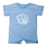 Light Blue Infant Romper-Golden Lion Head