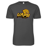 Next Level SoftStyle Charcoal T Shirt-UAPB Lion Head Stacked