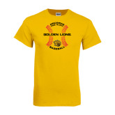 Gold T Shirt-Baseball Circle w/ Seams