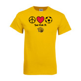 Gold T Shirt-Soccer Just Kick It
