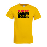 Gold T Shirt-Fear The Golden Lions