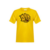 Youth Gold T Shirt-Golden Lion Head