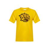 Youth Gold T Shirt-Golden Lion Head