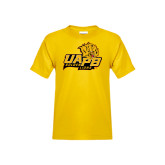 Youth Gold T Shirt-UAPB Lion Head Stacked