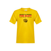 Youth Gold T Shirt-University of Arkansas Pine Bluff Golden Lions