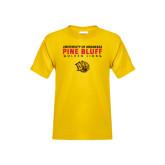 Youth Gold T Shirt-University of Arkansas Pine Bluff Golden Lions