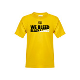 Youth Gold T Shirt-We Bleed Black & Gold
