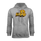 Grey Fleece Hoodie-UAPB Lion Head Stacked