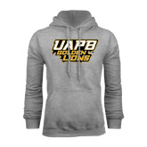 Grey Fleece Hoodie-UAPB Golden Lions Stacked