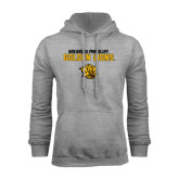 Grey Fleece Hoodie-Arkansas Pine Bluff Golden Lions