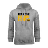 Grey Fleece Hoodie-Fear The Golden Lions