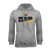 Grey Fleece Hoodie-We Bleed Black & Gold