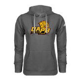 Adidas Climawarm Charcoal Team Issue Hoodie-UAPB Lion Head Stacked