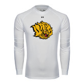 Under Armour White Long Sleeve Tech Tee-Golden Lion Head