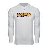Under Armour White Long Sleeve Tech Tee-UAPB Word Mark