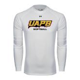 Under Armour White Long Sleeve Tech Tee-Softball