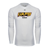 Under Armour White Long Sleeve Tech Tee-Dad