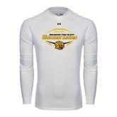 Under Armour White Long Sleeve Tech Tee-Golden Lions Football in Ball
