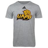Adidas Sport Grey Logo T Shirt-UAPB Lion Head Stacked