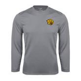 Syntrel Performance Steel Longsleeve Shirt-Golden Lion Head