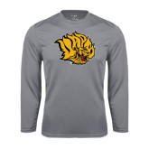 Syntrel Performance Steel Longsleeve Shirt-Golden Lion Head