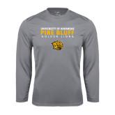 Performance Steel Longsleeve Shirt-University of Arkansas Pine Bluff Golden Lions