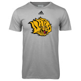 Adidas Climalite Sport Grey Ultimate Performance Tee-Golden Lion Head