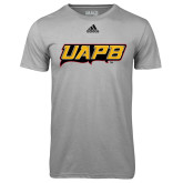 Adidas Climalite Sport Grey Ultimate Performance Tee-UAPB Word Mark