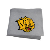 Grey Sweatshirt Blanket-Golden Lion Head