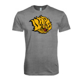 Next Level Premium Heather Tri Blend Crew-Golden Lion Head