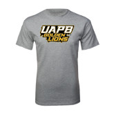 Grey T Shirt-UAPB Golden Lions Stacked
