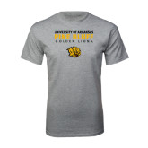 Grey T Shirt-University of Arkansas Pine Bluff Golden Lions