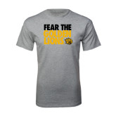 Grey T Shirt-Fear The Golden Lions